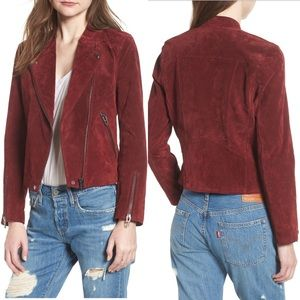 NWT - BLANK NYC No Limit Suede Moto Jacket in Ruby